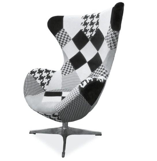 Fotelja Dixon (crno-bijela)