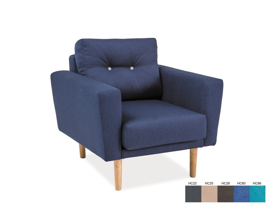 Cameron fotelja (tamnosiva)