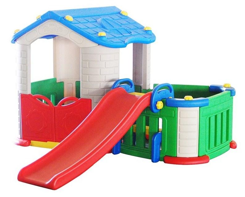 Kućica za djecu sa toboganom (plava)